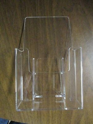 Clear Acrylic Brochure Holders, Lot of 6, Counter Top Brochure Display