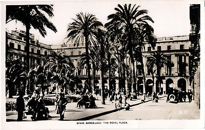 Barcelona, The Royal Plaza, b+w RP postcard, unposted