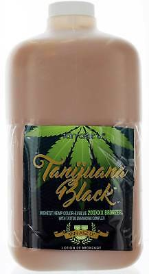 Tanijuana Black Tanning Lotion with  Bronzer and Tattoo Enhancing complex. 64oz