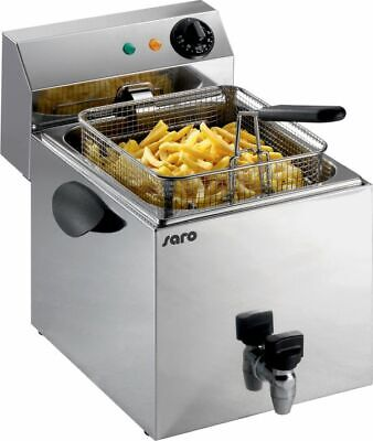 Mdc pro Stainless Steel Fryer 1 x 8 Litre with Drain Tap New Edelstahlfriteuse