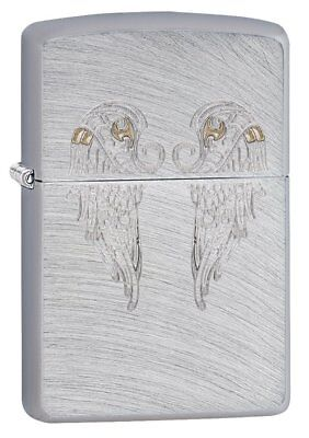 Zippo Angel Wings Regular Lighter - Chrome Arch