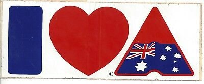 I Love Australia sticker  1980s