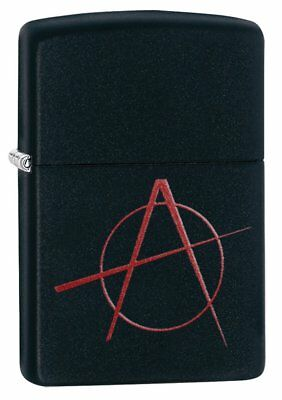 Zippo Anarchy Lighter - Black Matte