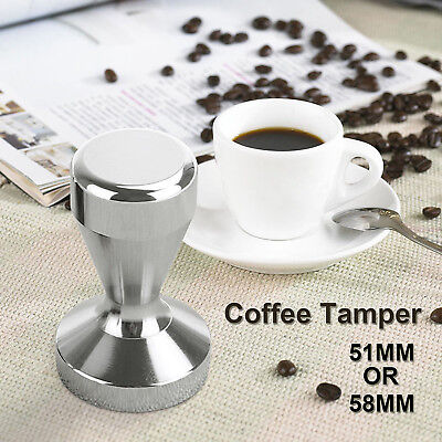 51MM / 58MM Coffee Tamper Stainless Steel Polished Tampa Tamp Espresso Barista L
