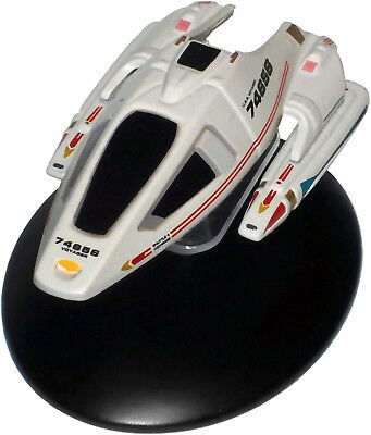 SH-04- Star Trek Cochrane Shuttlecraft-10 Die Cast Metal Ship-UK/Eaglemoss w Mag