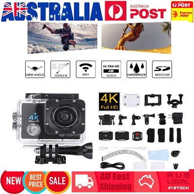 Ultra HD 4K 1080p WIFI Waterproof DV Sports Action Video Camera Camcorder Go pro