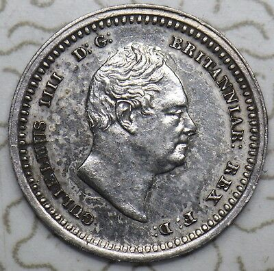 1836 MAUNDY TWOPENCE 2d - WILLIAM IV BRITISH SILVER COIN - V NICE