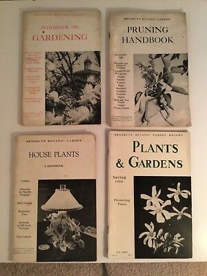 Lot of 4 Vintage  BROOKLYN BOTANIC GARDEN 'Plants and Gardens' Handbooks -