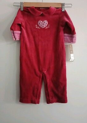 BNWT Carters girls baby 9 months romper one piece cherry red jumpsuit USA