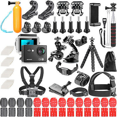 Waterproof HD 4K WiFi Sports Action Camera with 83 in 1 Accessory Kit