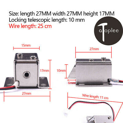 Electronic Cam Lock Latch Door Gate DC12V Electric Release Assembly Solenoid