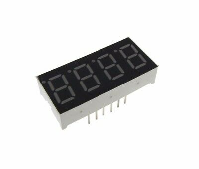 "0.36"" 4 Digit 7-Segment LED Display DIP Common Anode - Red"