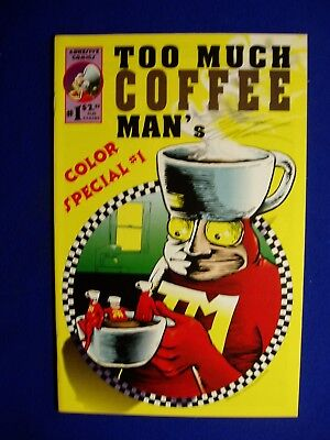 Too Much Coffee Man's Color Special #1. Shannon Wheeler. 1st. VFN.