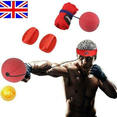 Fight Boxeo Ball Boxing Punch Exercise Head Band Reflex Speed Training UK