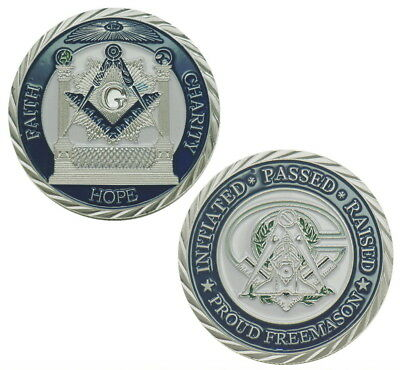 Freemasons Masonic Freemasonry Faith Charity Free-mason Challenge Coin