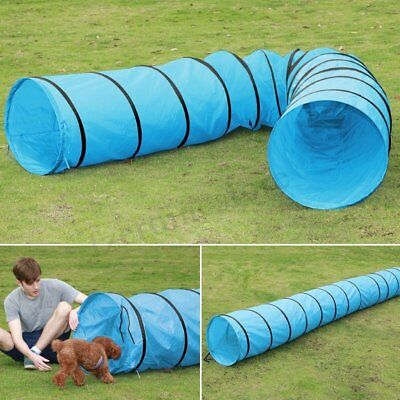 18' Dog Tunnel Obedience Agility Training Outdoor Dog Play Toy w/ Portable