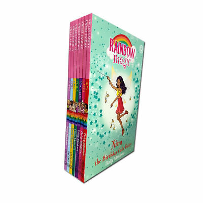 Rainbow Magic Sweet Fairies Series By Daisy Meadows 7 Books Collection Set NEW