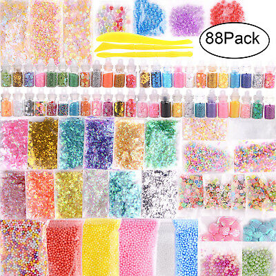 88Pack Slime Supplies Kit Slime Beads Charms Slime Tool Kit For DIY Slime Making