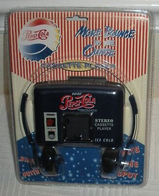 NEW Sealed Vintage PEPSI COLA Advertising Cassette Stereo Player w/ Headphones