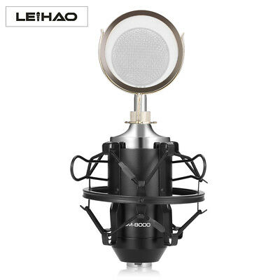 Professional Sound Studio Recording Condenser Microphone with Stand Holder US