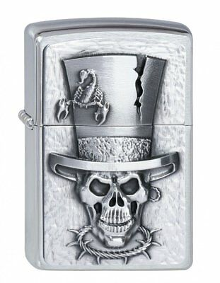 Zippo 1300003 Lighter Zippo Lighter Logo _ Parent Skull Top Hat
