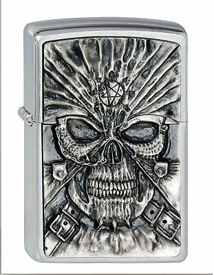 Zippo 2000858 No.200 Death Mask Emblem Cigarette Lighter