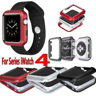 For Apple Watch Series 4 40mm 44mm Magnetic 360° Metal Protective Case Cover