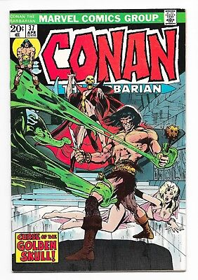 Conan the Barbarian Vol. 1 #37 VF 8.0 Neal Adams Cover and Art Marvel 1974