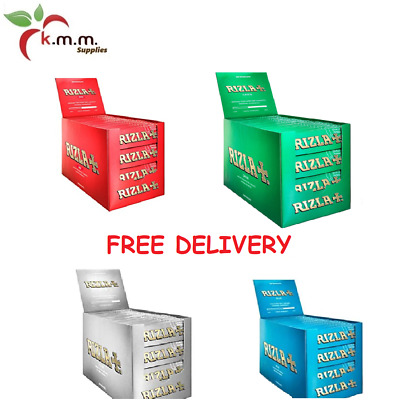 RIZLA Regular RED GREEN SILVER BLUE Cig. Rolling Papers ORIGINAL FREE DELIVERY!!