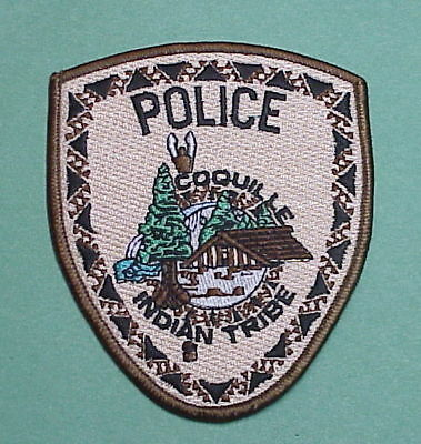 Coquille  Oregon   Or  Indian Tribe  Tribal Police Patch  Free Shipping!!!
