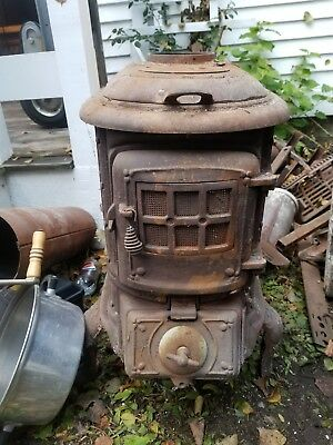 Antique Salvaged Cast Iron Stove  Sears No 22 Pot Belly 112-1266 Stove Parts