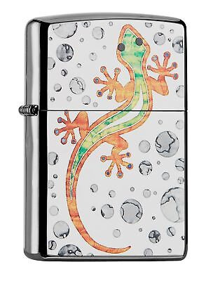 Zippo Gecko Windproof Pocket Lighter - High Polish Chrome