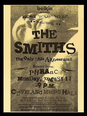 "The Smiths Cleveland 16"" x 12"" Repro Concert Promo  Poster"