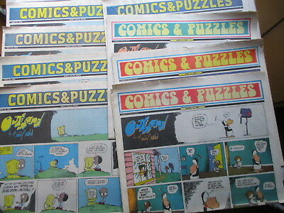 West Chester PA Daily Local Sunday COMICS - NINE Sections 1991/1992