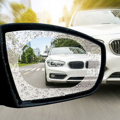 Oval Car Auto Anti Fog Rainproof Rearview Mirror Protective Film 2Pcs Accessory