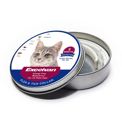 63cm DEWEL CATS Flea and Tick Collar for CATS 8 Month Protection 2018 FREE SHIPP