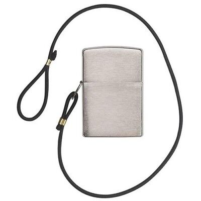 Zippo 275 Loss Proof Windproof Brushed Chrome Classic Lighter + Lanyard