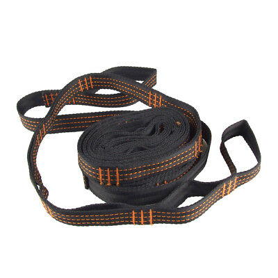 Double Hammock Tree Straps Lightweight Portable Camping Hiking Traveling C7Z6