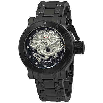 Invicta Coalition Forces Automatic Crystal Black ans Silver Dial Men's Watch