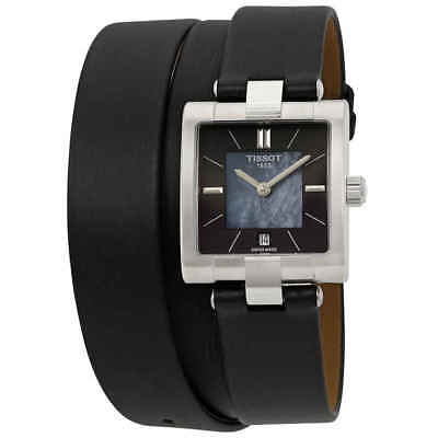 Tissot T-Collection Black Mother of Pearl Dial Ladies Watch T090.310.17.051.00