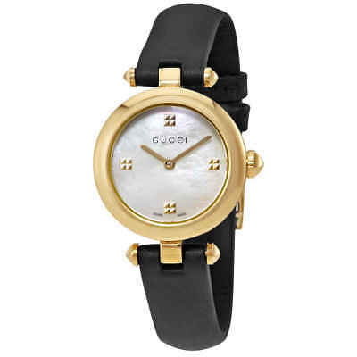2a1688e1a0f GUCCI DIAMANTISSIMA MOTHER of Pearl Dial Ladies Watch YA141505 ...