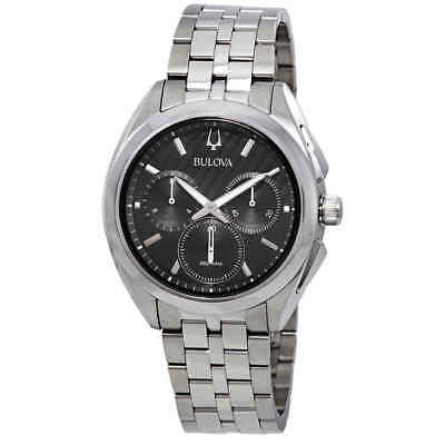 Bulova Curv Chronograph Black Dial Men's Watch 96A186