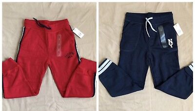 NWT Baby Gap Boy's (2) Logo Jogger Red & Navy Sweat Pants 4T