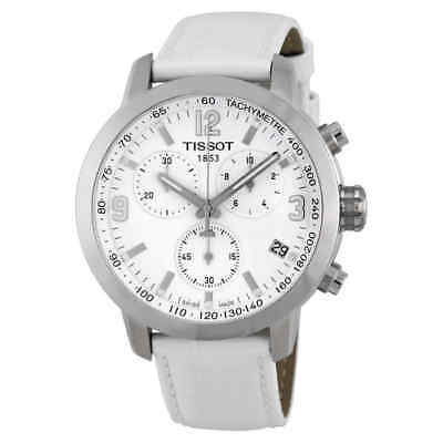 Tissot PRC 200 Chronograph White Dial Steel Watch T055.417.16.017.00