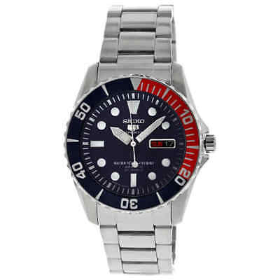 Seiko 5  Automatic Dark Blue Dial Stainless Steel Men's Watch SNZF15J1