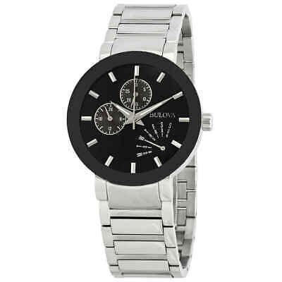 Bulova Men's Black Dial Bracelet Watch 96C105