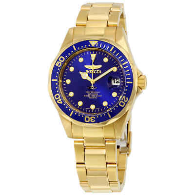 Invicta Pro Diver Blue Dial Gold-plated Men's Watch 17052