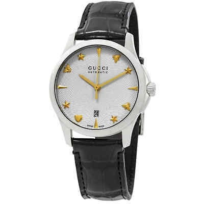 85964381544 Gucci G-Timeless Automatic Silver Dial Unisex Watch YA126468
