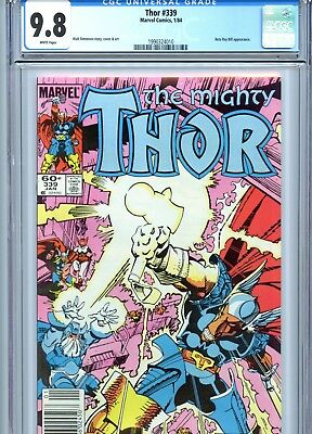 Thor #339 CGC 9.8 White Pages *Newsstand Copy* Beta Ray Bill Marvel Comics 1984