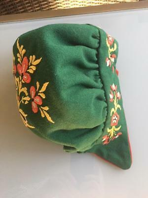 AUTHENTIC New NORWEGIAN NEDRE BUSKERUD BUNAD HAT HAND EMBROIDERED FROM NORWAY